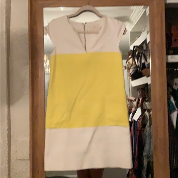 kate spade Dresses & Skirts - Kate Spade yellow and white dress size 6
